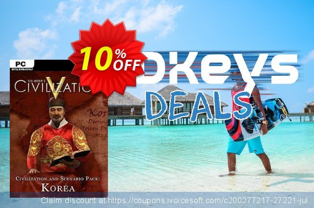 Civilization V Civ and Scenario Pack Korea PC discount 10% OFF, 2020 Thanksgiving Day offering sales