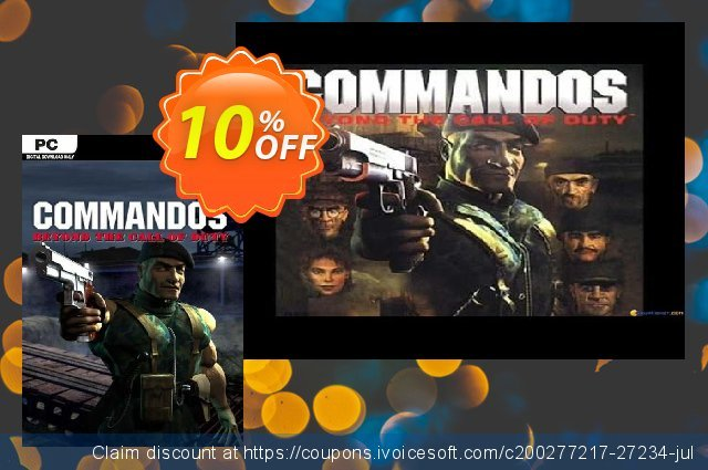 Commandos Beyond the Call of Duty PC discount 10% OFF, 2020 Black Friday offering deals
