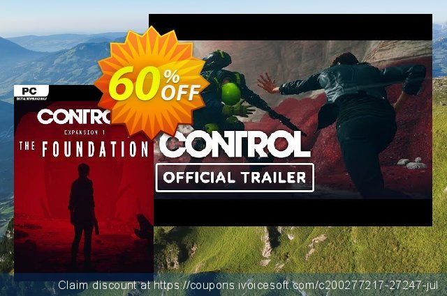 Control PC: The Foundation - Expansion 1 DLC discount 31% OFF, 2020 Thanksgiving sales