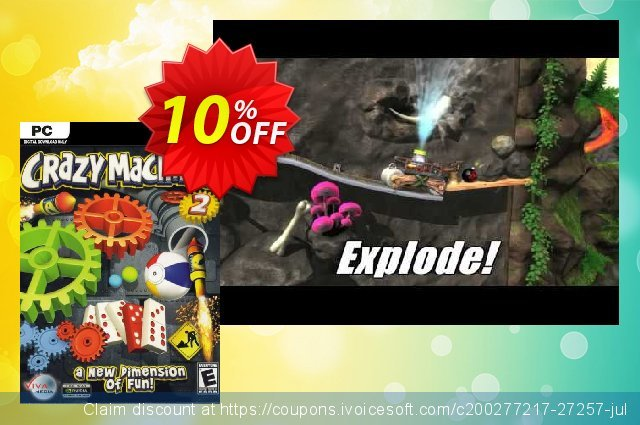 Crazy Machines 2 PC discount 10% OFF, 2020 Thanksgiving Day offering sales