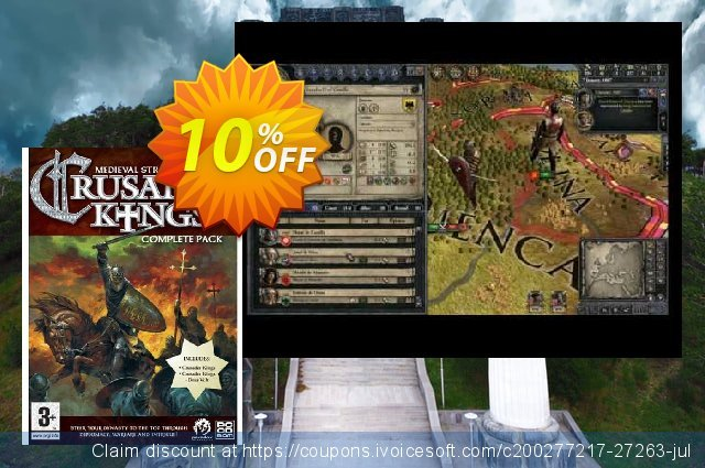 Crusader Kings Complete Pack (PC) discount 10% OFF, 2020 Thanksgiving Day offering sales
