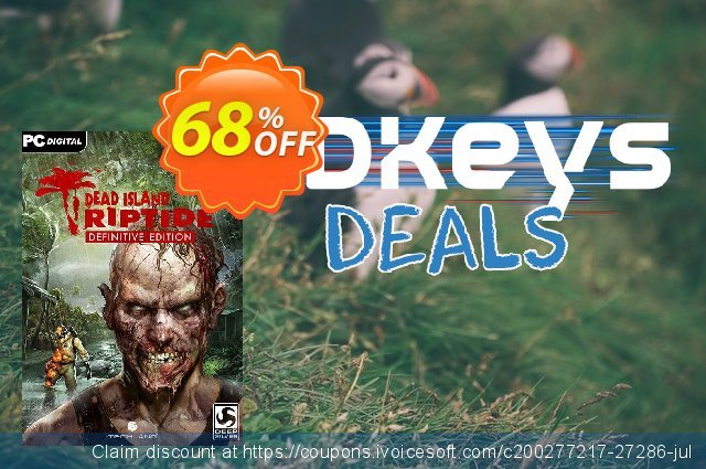 Dead Island: Riptide Definitive Edition PC discount 60% OFF, 2020 Thanksgiving deals