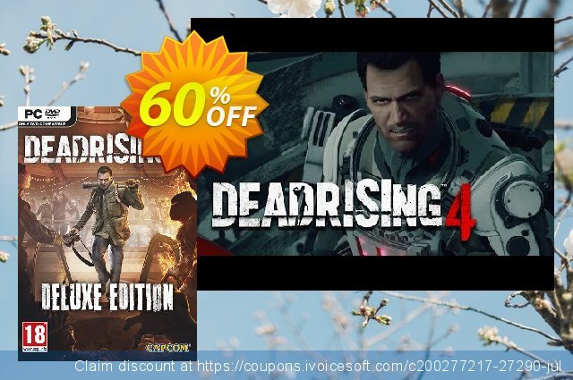 Dead Rising 4 Deluxe Edition PC discount 60% OFF, 2020 End year offering deals