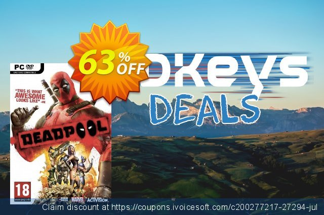 Deadpool PC discount 63% OFF, 2021 New Year promotions