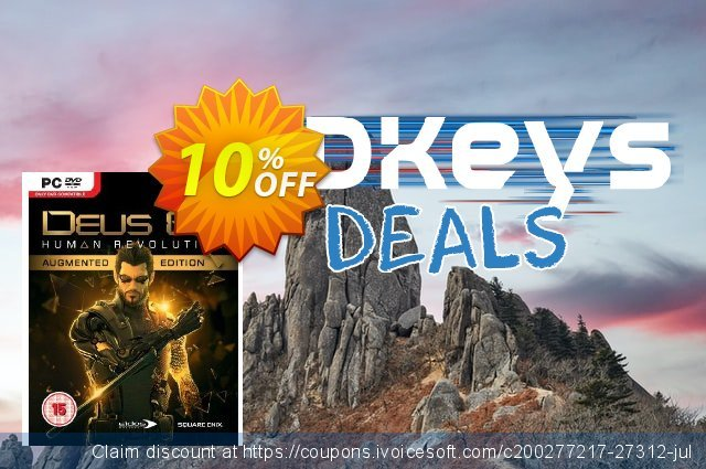 Deus Ex: Human Revolution - Augmented Edition (PC) discount 10% OFF, 2020 Black Friday promo