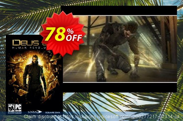 Deus Ex Human Revolution PC discount 75% OFF, 2020 Thanksgiving Day offering sales