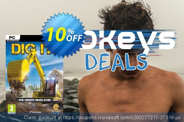 DIG IT! A Digger Simulator PC discount 10% OFF, 2020 Black Friday offering sales