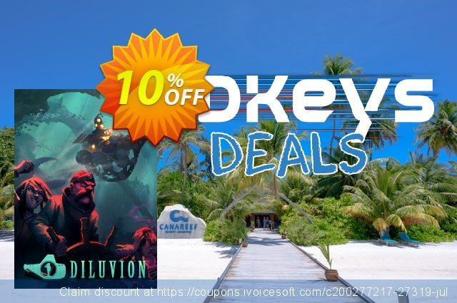 Diluvion PC discount 10% OFF, 2020 New Year's eve offering sales