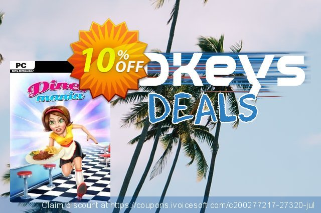 Diner Mania PC discount 10% OFF, 2020 Thanksgiving Day offering sales