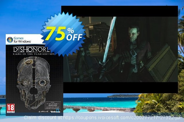 Dishonored Game Of The Year Edition (PC) fantastisch Förderung Bildschirmfoto
