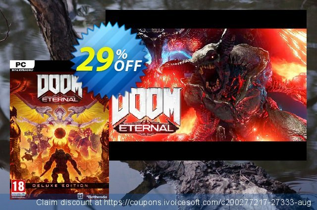 DOOM Eternal - Deluxe Edition PC + DLC (EMEA) discount 29% OFF, 2020 Back to School coupons promo