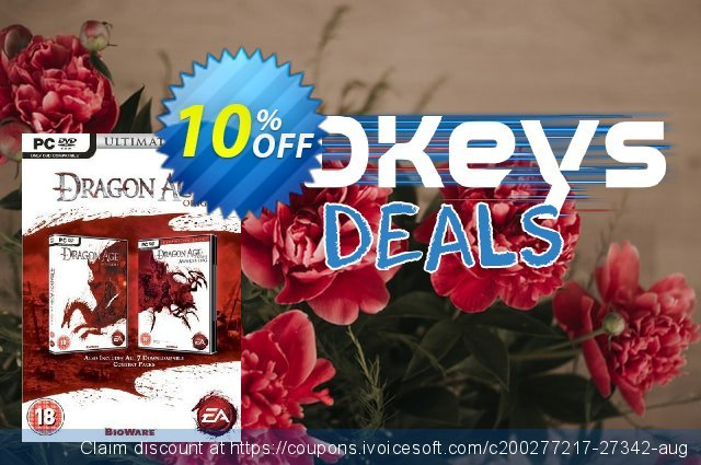 Dragon Age: Origins - Ultimate Edition (PC) discount 10% OFF, 2020 Black Friday sales