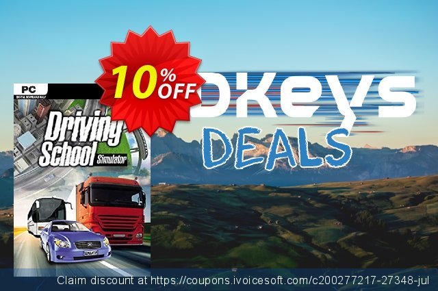 Driving School Simulator PC discount 10% OFF, 2020 Back to School promo offering discount