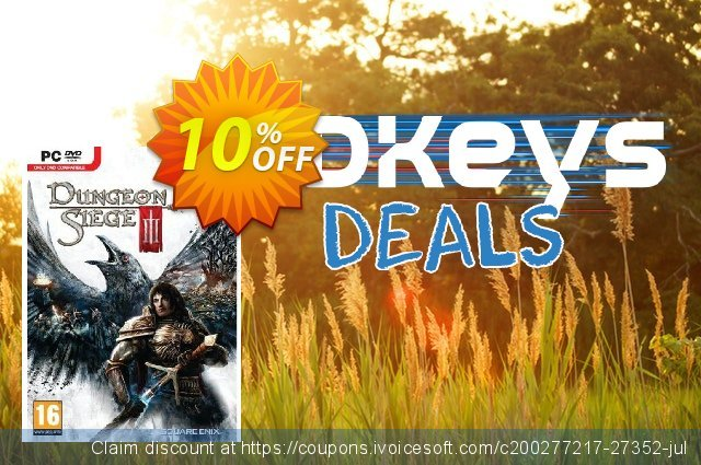 Dungeon Siege 3 (PC) discount 10% OFF, 2020 Thanksgiving offering sales