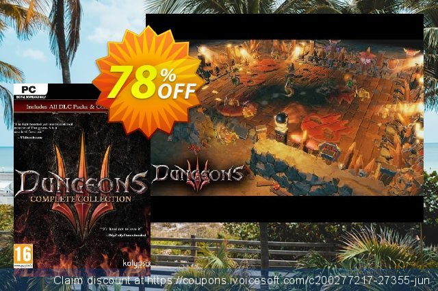 Dungeons 3 - Complete Collection PC discount 50% OFF, 2020 New Year's eve offering sales