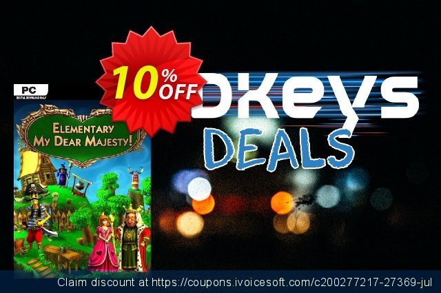 Elementary My Dear Majesty! PC discount 10% OFF, 2020 Black Friday promo