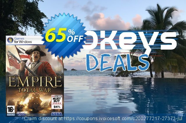 Empire: Total War (PC) discount 40% OFF, 2021 Happy New Year offer