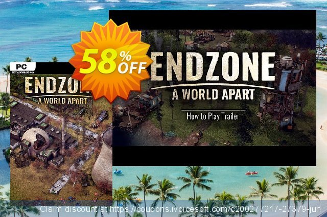 Endzone - A World Apart PC discount 51% OFF, 2021 New Year's Day promo