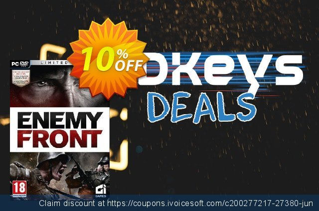 Enemy Front: Limited Edition PC discount 10% OFF, 2020 Thanksgiving Day sales