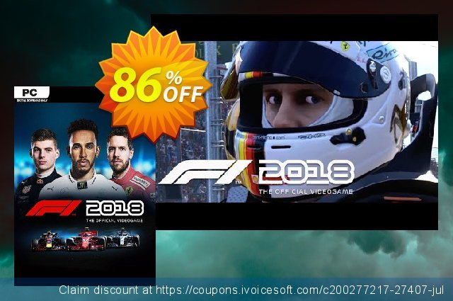 F1 2018 PC discount 86% OFF, 2020 End year offering sales