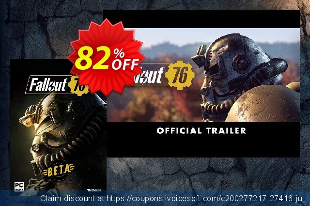 Fallout 76 BETA PC discount 81% OFF, 2020 Thanksgiving Day discounts