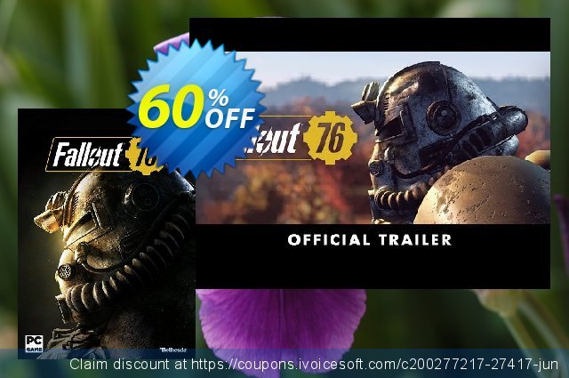 Fallout 76 PC (Asia) discount 60% OFF, 2021 Happy New Year promo