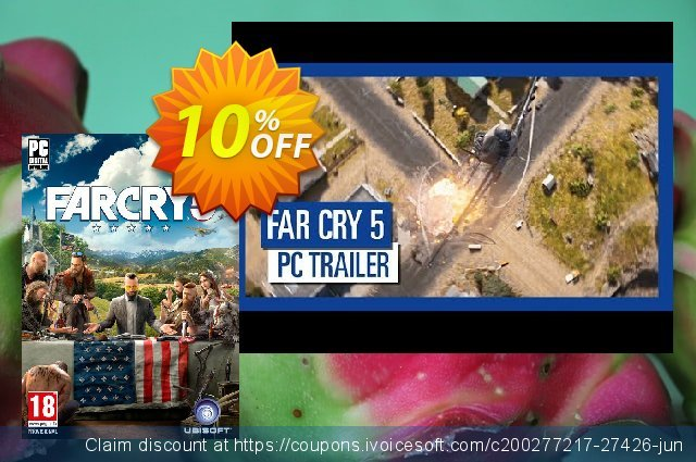 Far Cry 5 PC + DLC discount 10% OFF, 2020 College Student deals offering deals