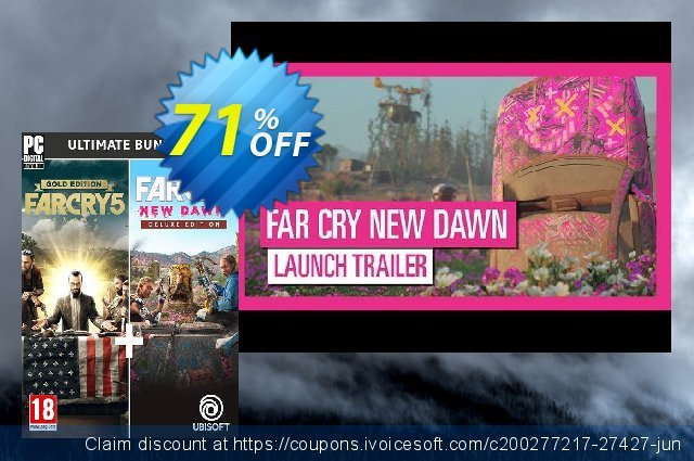 Far Cry New Dawn + Far Cry 5 - Ultimate Bundle PC discount 71% OFF, 2020 College Student deals promo sales