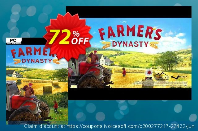 Farmer's Dynasty PC discount 46% OFF, 2020 Christmas Day offering sales