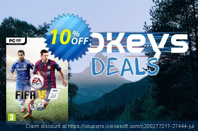 FIFA 15 PC + 15 FUT Gold Sets discount 10% OFF, 2020 University Student offer offering sales