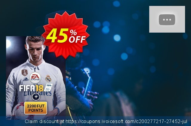 FIFA 18 PC + 2200 FUT Points discount 44% OFF, 2020 Back to School promotion offering sales