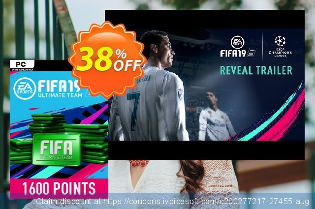 FIFA 19 - 1600 FUT Points PC discount 38% OFF, 2020 Christmas sales