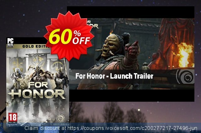 For Honor Gold Edition PC discount 60% OFF, 2020 Thanksgiving offer