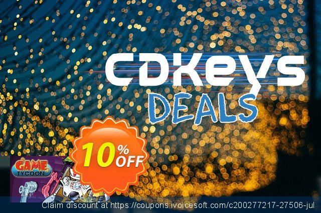 Game Tycoon 1.5 PC discount 10% OFF, 2021 Happy New Year offer