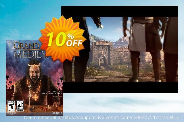 Grand Ages: Medieval PC discount 10% OFF, 2020 End year offering sales