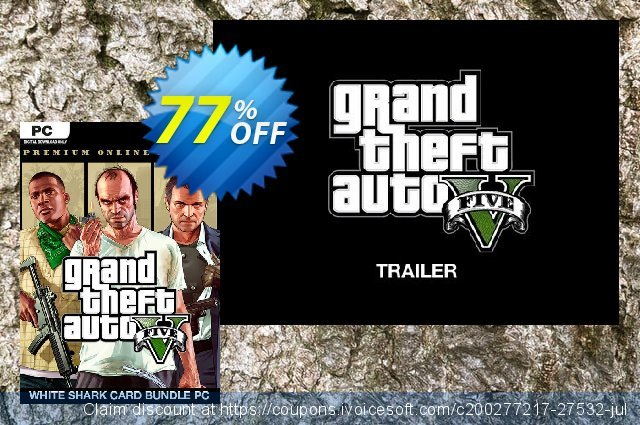 Grand Theft Auto V: Premium Online Edition & White Shark Card Bundle PC 令人恐惧的 产品销售 软件截图