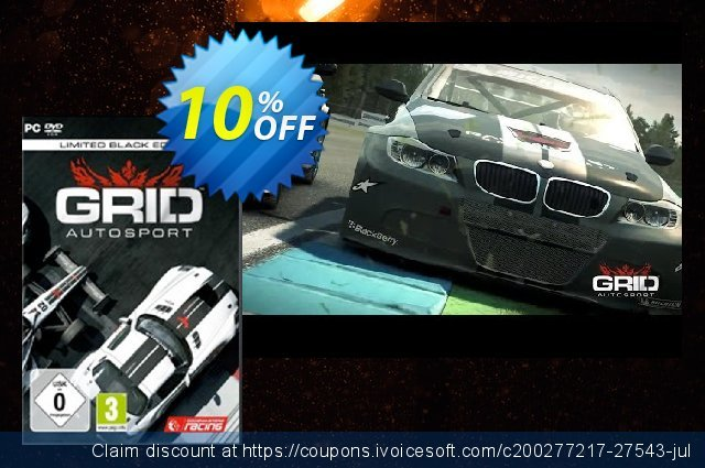Grid Autosport Black Edition PC discount 10% OFF, 2020 Back to School coupons offering sales