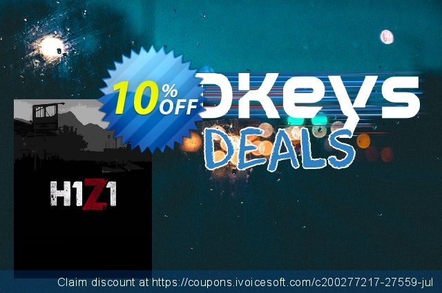 H1Z1 PC discount 10% OFF, 2020 Thanksgiving promo