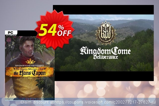 Kingdom Come Deliverance PC – The Amorous Adventures of Bold Sir Hans Capon DLC 令人惊讶的 促销 软件截图
