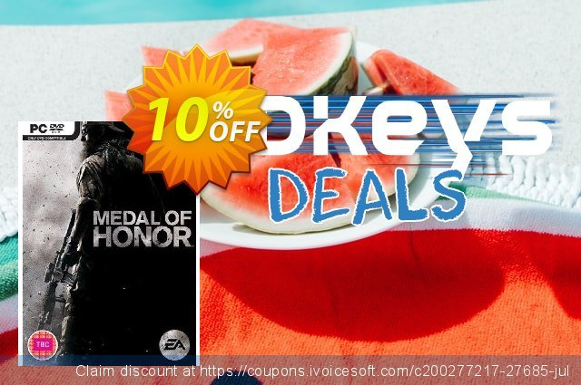 Medal of Honor (PC) discount 10% OFF, 2020 Thanksgiving deals