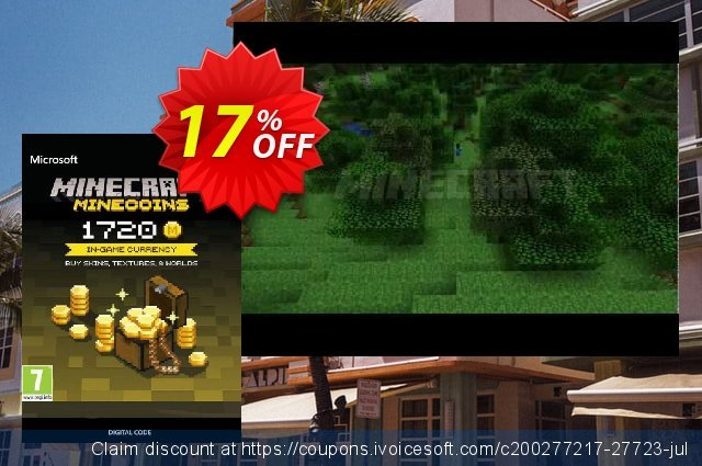 Minecraft: 1720 Minecoins discount 11% OFF, 2021 Happy New Year offering sales