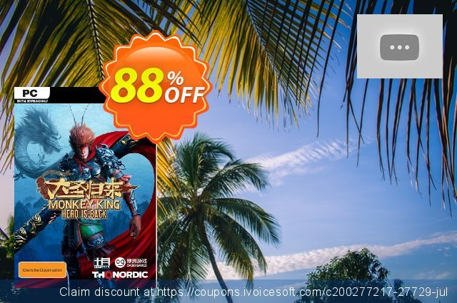 Monkey King: Hero is Back PC discount 40% OFF, 2020 Back-to-School promotions offering discount