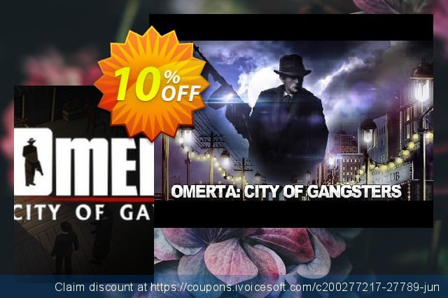 Omerta City of Gangsters PC discount 10% OFF, 2020 Halloween offering sales