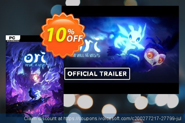 Ori and the Will of the Wisps PC discount 10% OFF, 2020 Thanksgiving deals