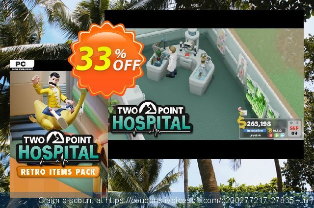 Two Point Hospital PC - Retro Items Pack DLC (EU)  대단하   세일  스크린 샷