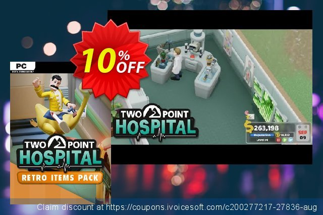 Two Point Hospital PC - Retro Items Pack DLC (US) discount 10% OFF, 2020 Fourth of July offering sales
