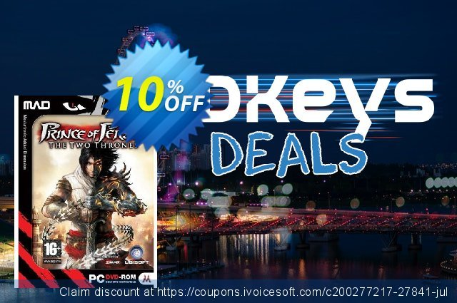 Prince of Persia: The Two Thrones (PC) discount 10% OFF, 2020 Thanksgiving offering sales