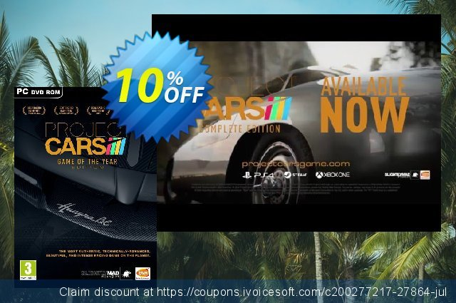 Project Cars - Game of the Year Edition PC discount 10% OFF, 2020 Black Friday offering sales