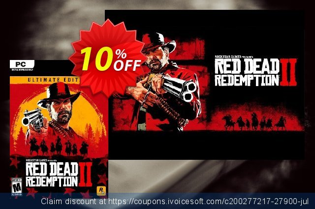 Red Dead Redemption 2 - Ultimate Edition PC + DLC discount 10% OFF, 2020 Back to School coupons offering sales