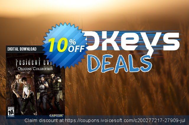 Resident Evil Origins Collection PC discount 10% OFF, 2020 Black Friday offering sales